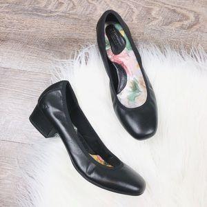 Born Black Leather 'Paula' Block Heel Pump